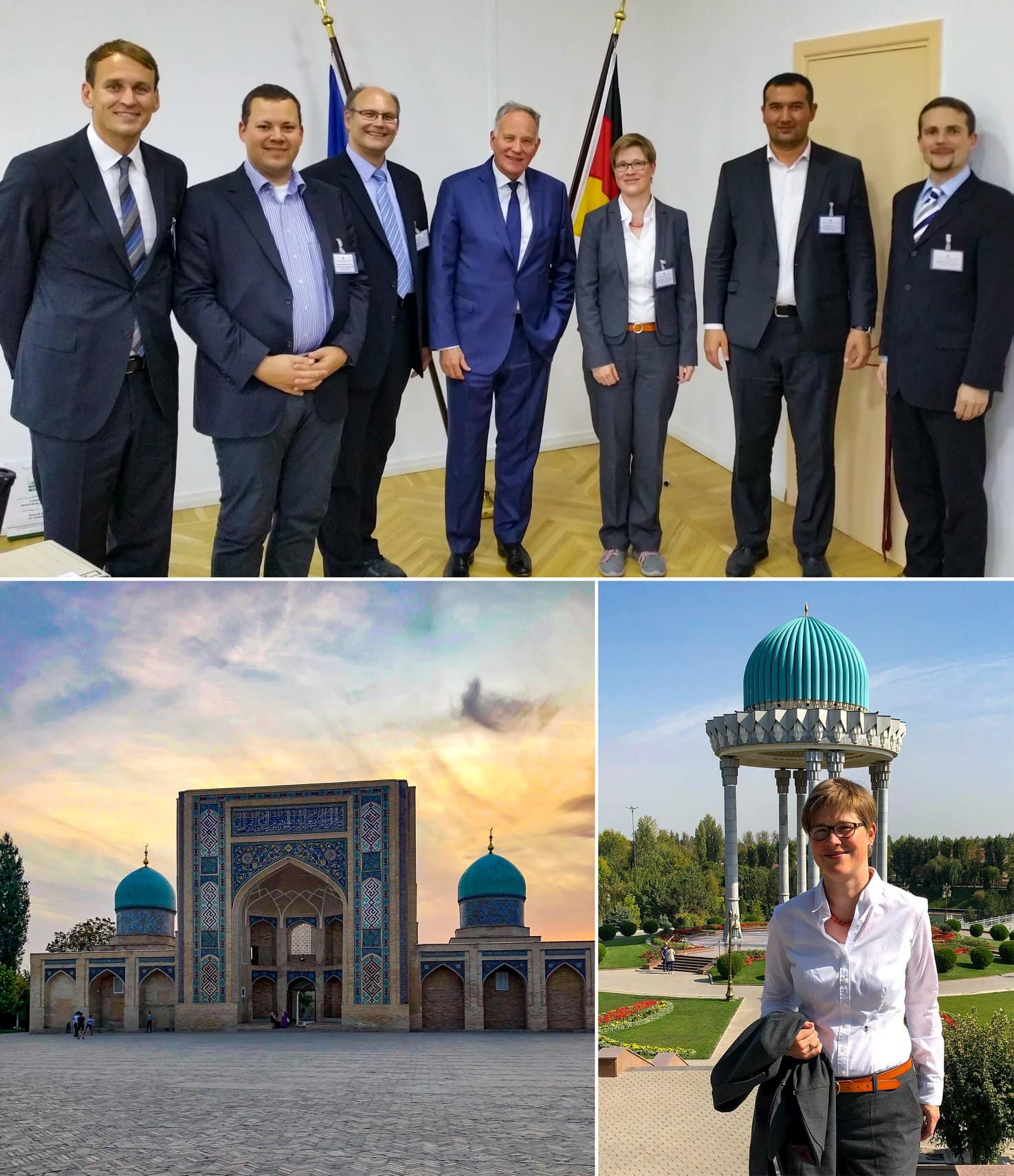 erminas CTO Dr. Yvette Teiken in Tashkent